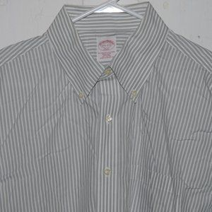 Brooks brothers dress mens shirt size 17 1/2 J898
